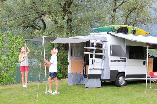 Buscamper luifels campersalon webwinkel en werkplaats for Luifel caravan aanbieding