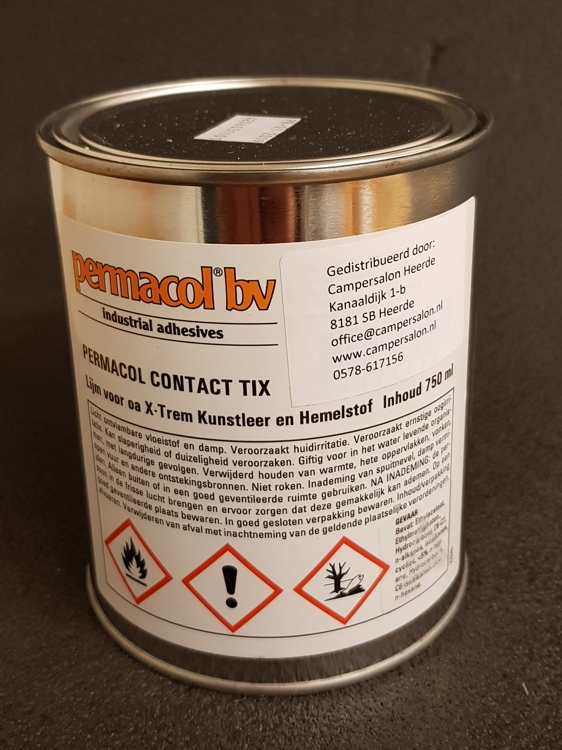 Permacol Contact Tix 750ml, lijm voor X-trem