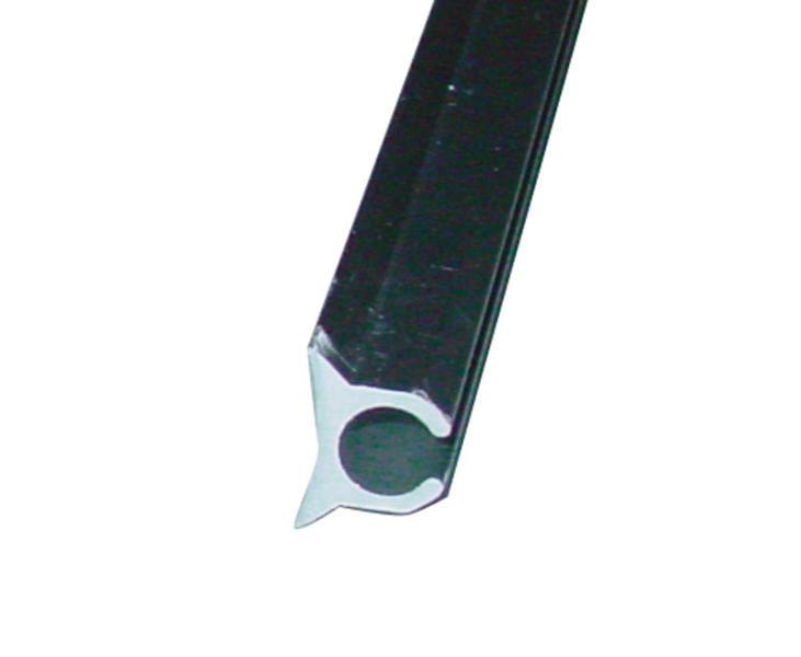 Goede Peesrail geanodisserd aluminium 9mm, 5m Campersalon - Webwinkel en YW-13