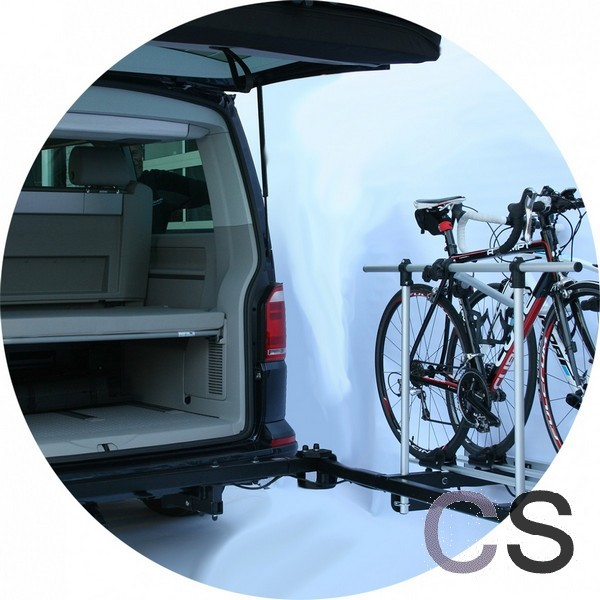 fietsendrager draaibaar vw t5 t6 geschikt voor e bikes campersalon webwinkel en werkplaats. Black Bedroom Furniture Sets. Home Design Ideas